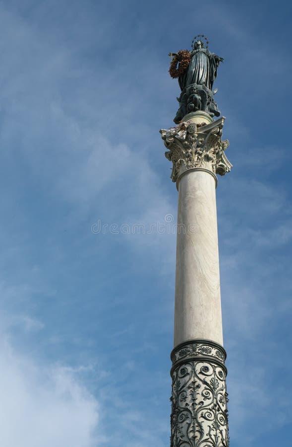 Kolumna Niepokalany poczęcie zdjęcia stock
