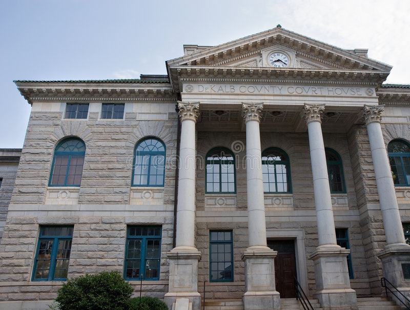 kolumna sądu hrabstwa de kalb obraz stock