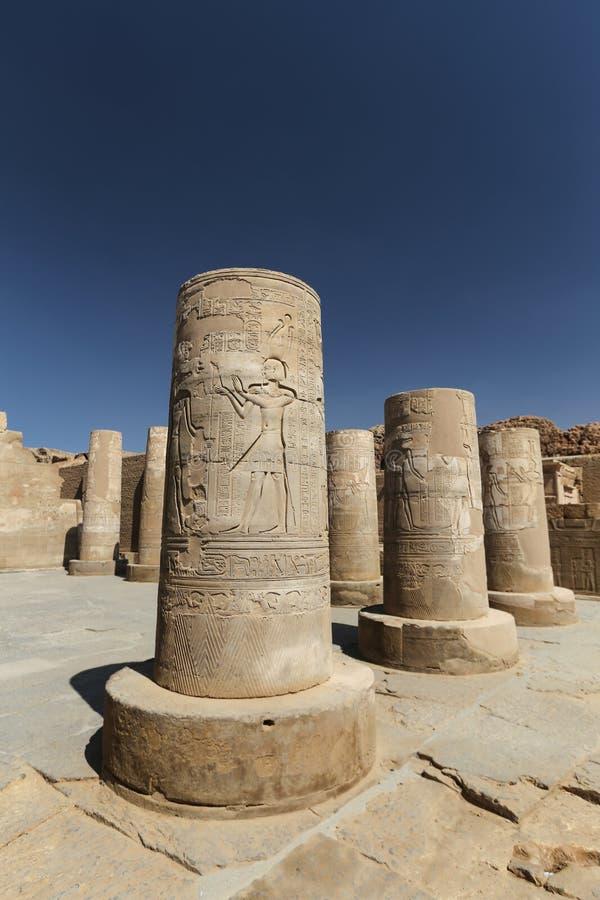 Kolumna w Kom Ombo świątyni, Aswan, Egipt fotografia royalty free