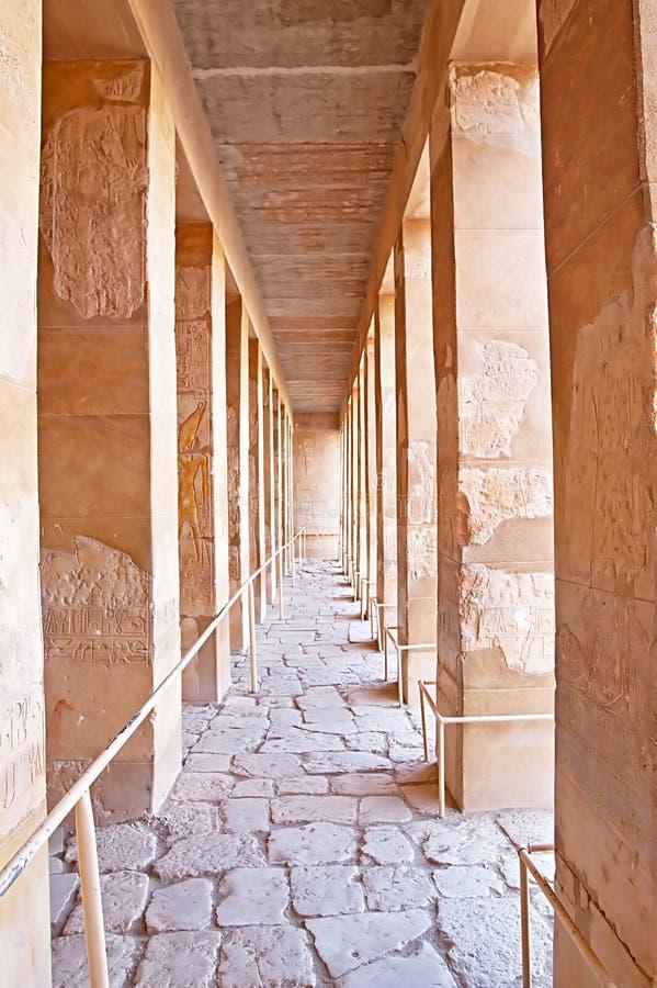 Kolumnada pałac Hatshepsut w Luxor obraz royalty free