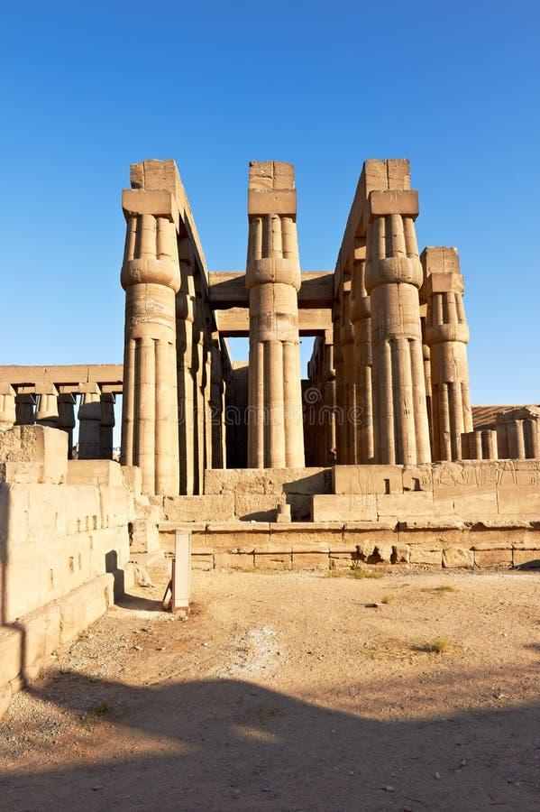kolumnady Luxor świątynia zdjęcie royalty free