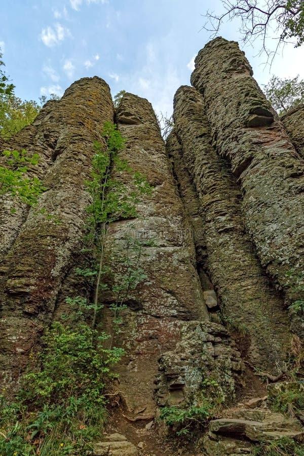 Kolumnowy bazalt przy Węgry zdjęcia stock