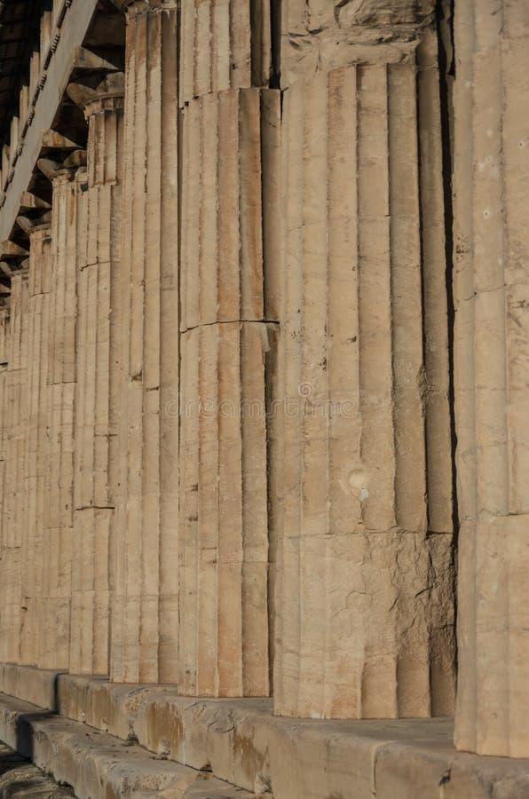Kolumny świątynia Hephaestus w Antycznej agorze, Ateny obraz stock
