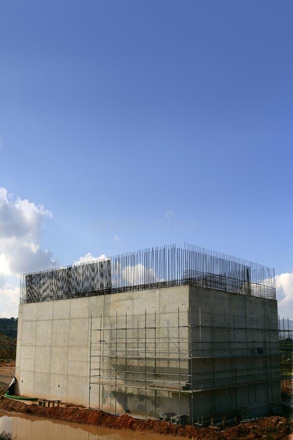 kolumny betonu zbrojona drogowa stal obrazy stock