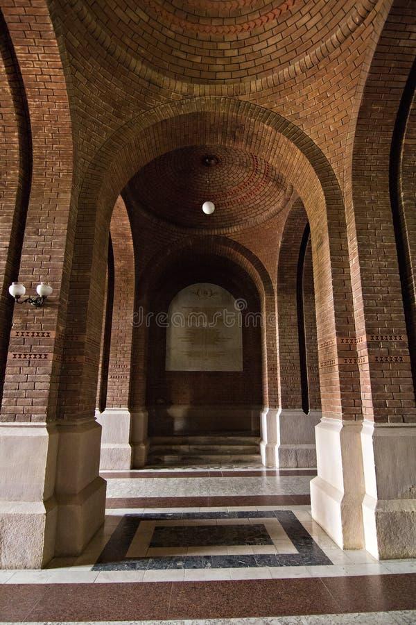 Kolumny, buduje elementy w Chernivtsi uniwersytecie obrazy royalty free
