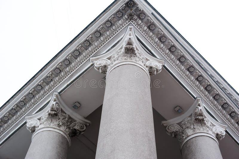 Kolumny dla budynków w Ionian stylu zdjęcie royalty free