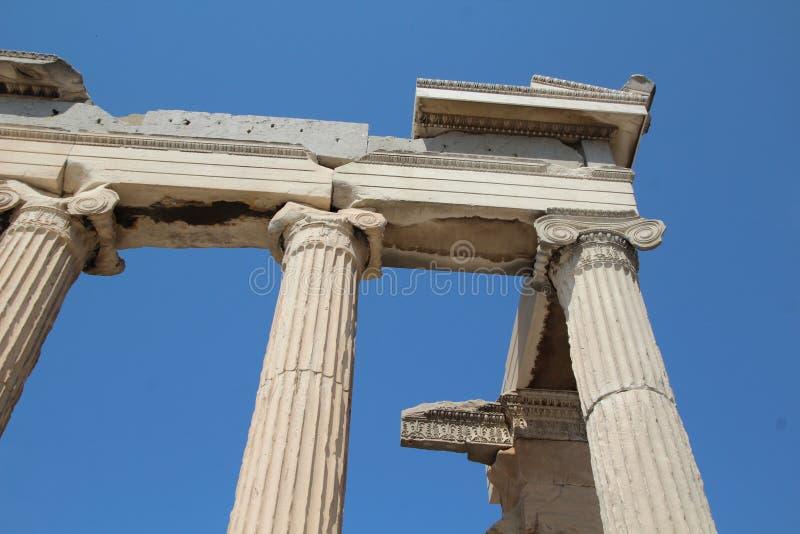 Kolumny Erechtheion akropol Ateny zdjęcia royalty free