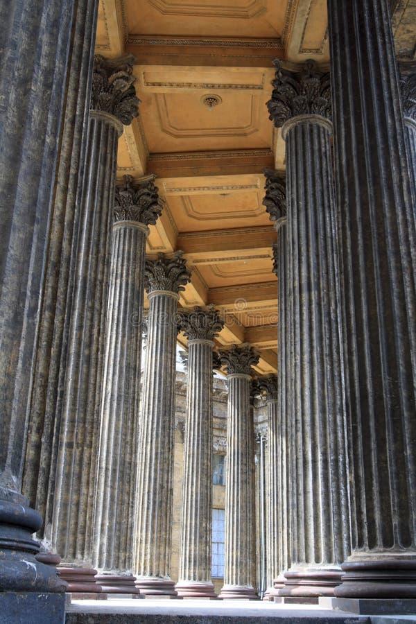 kolumny kościelne fotografia stock