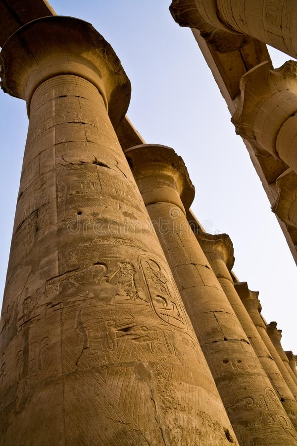 Kolumny przy Luxor świątynią zdjęcie stock