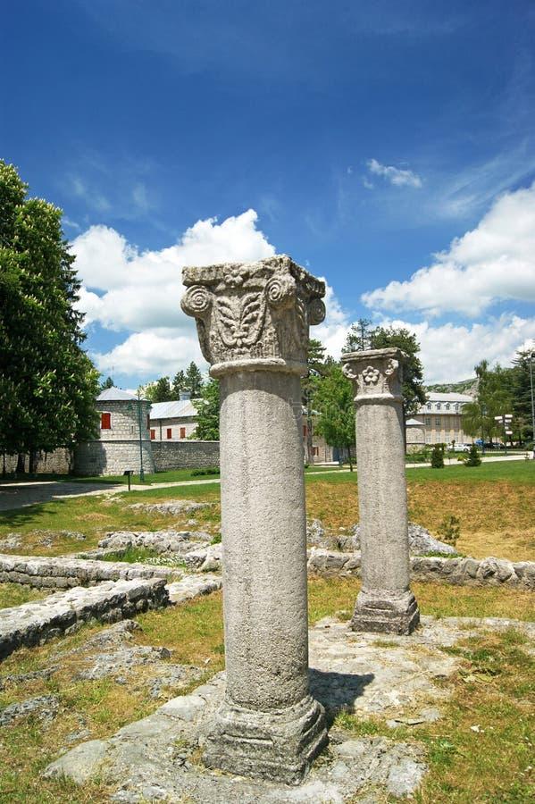 Kolumny w Cetinje zdjęcie royalty free