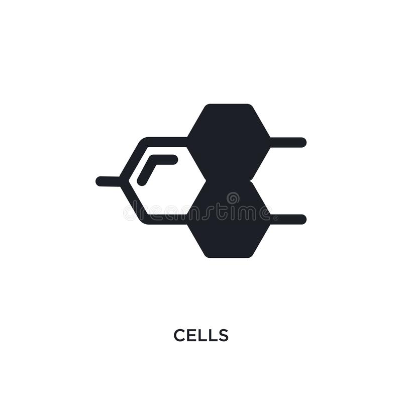 komórki odosobniona ikona prosta element ilustracja od nauki pojęcia ikon komórka logo znaka symbolu editable projekt na bielu ilustracja wektor