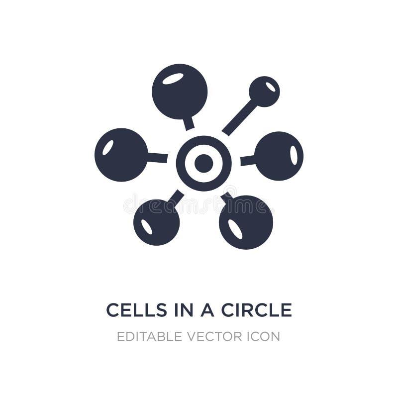komórki w okrąg ikonie na białym tle Prosta element ilustracja od Medycznego pojęcia ilustracja wektor