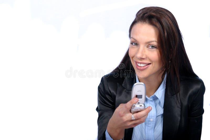 Download Komórka kobieta zdjęcie stock. Obraz złożonej z komunikacja - 136294