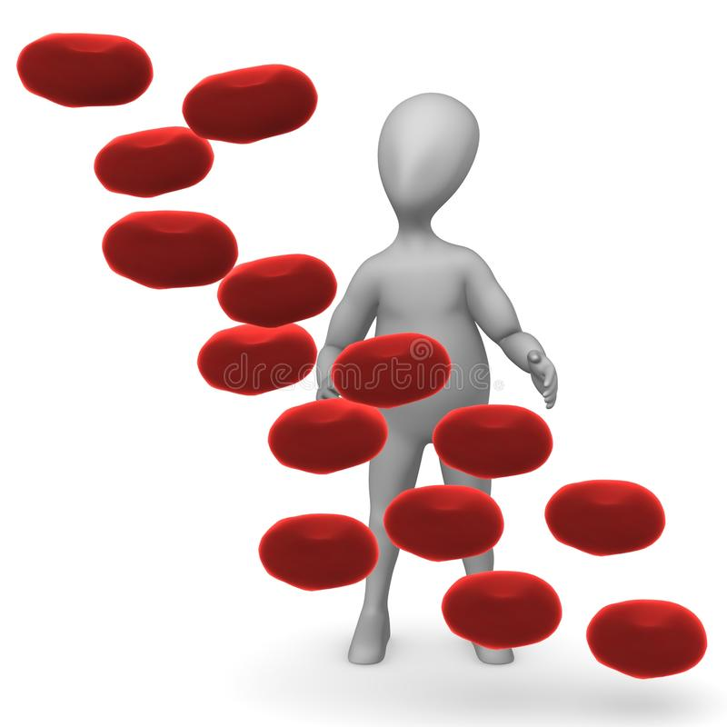 Download Komórka krwi ilustracji. Ilustracja złożonej z heart - 13327992