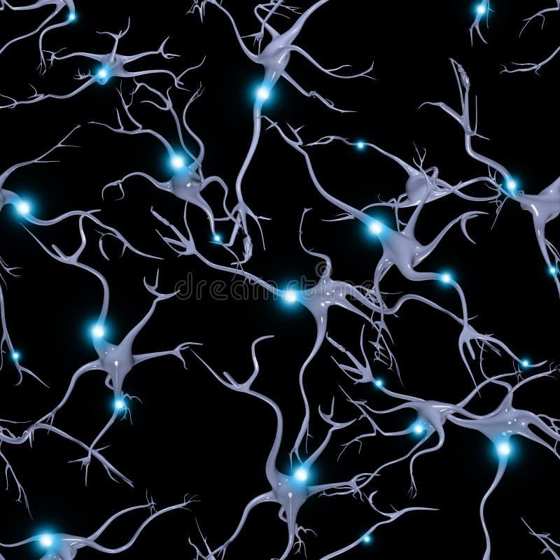 Komórka Mózgowa wzór royalty ilustracja