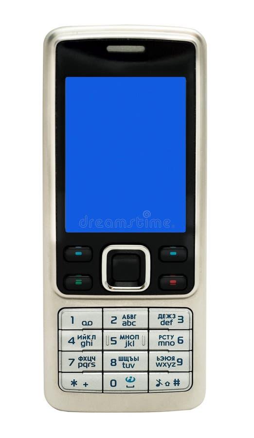 komórka odizolowywający telefon zdjęcie stock