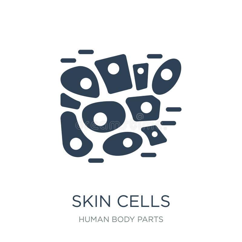 komórka skóry ikona w modnym projekta stylu Komórki Skóry ikona odizolowywająca na białym tle komórka skóry wektorowa ikona prost ilustracja wektor