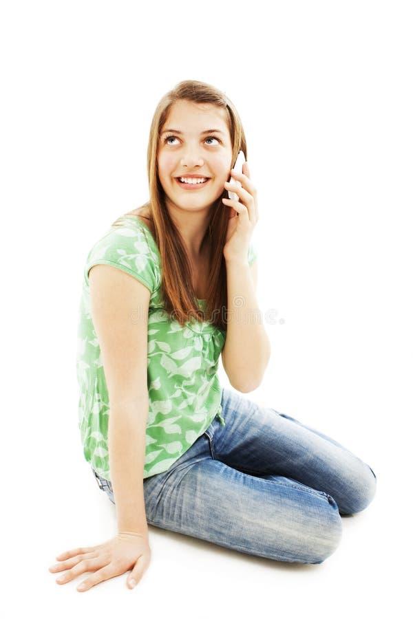 komórki dziewczyny telefon fotografia stock