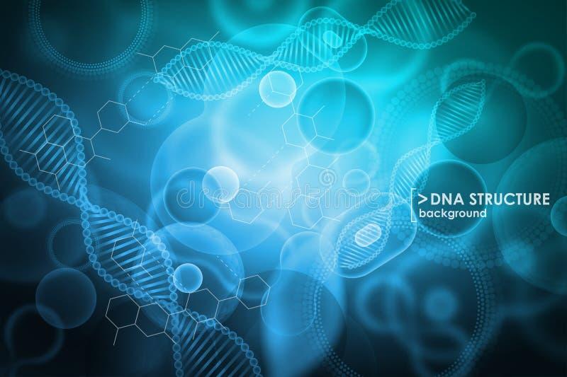 Komórki i DNA tło Cząsteczkowy badanie royalty ilustracja
