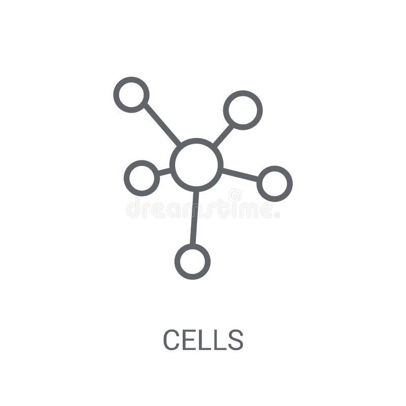Komórki ikona Modny komórka logo pojęcie na białym tle od S ilustracji