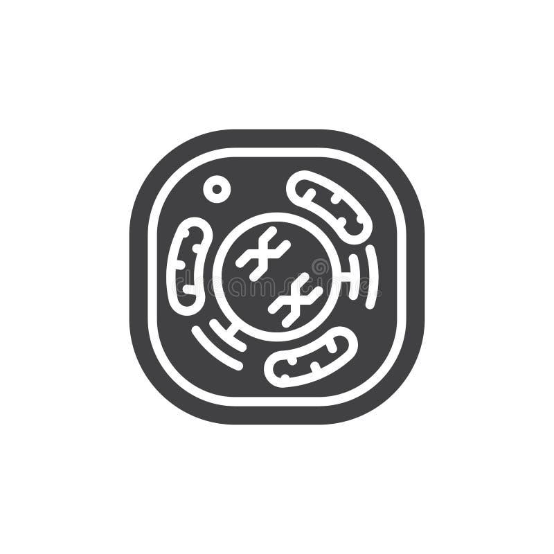 Komórki ikony wektor, wypełniający mieszkanie znak, stały piktogram odizolowywający na bielu ilustracja wektor