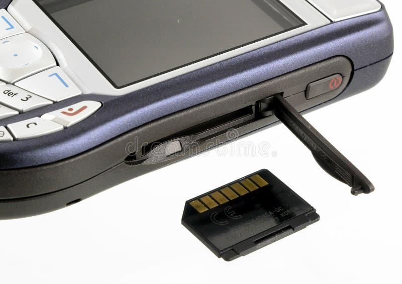 komórki karty pamięci telefonu zdjęcie royalty free