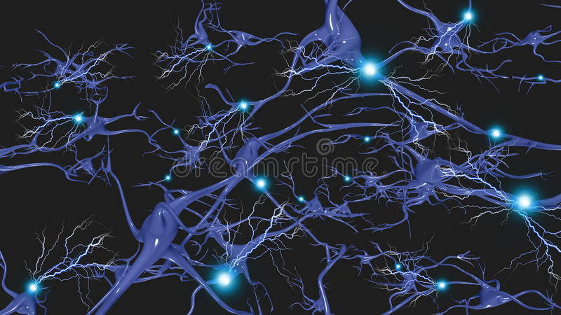 Komórki mózgowe ilustracja wektor