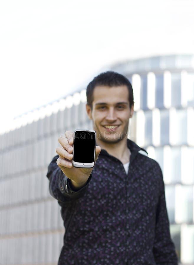 komórki mienia mężczyzna telefon zdjęcie royalty free