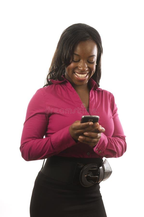 komórki przyrządu latynoska osobista telefonu kobieta obrazy stock
