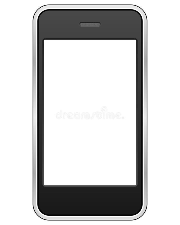 komórki rodzajowy telefonu ekranu dotyk ilustracja wektor