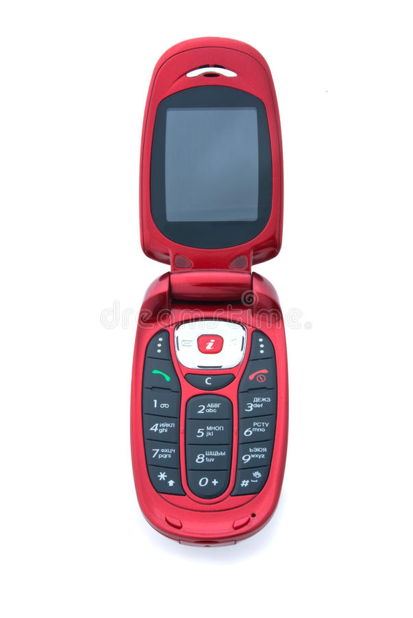 komórki trzepnięcia telefonu czerwień zdjęcie stock