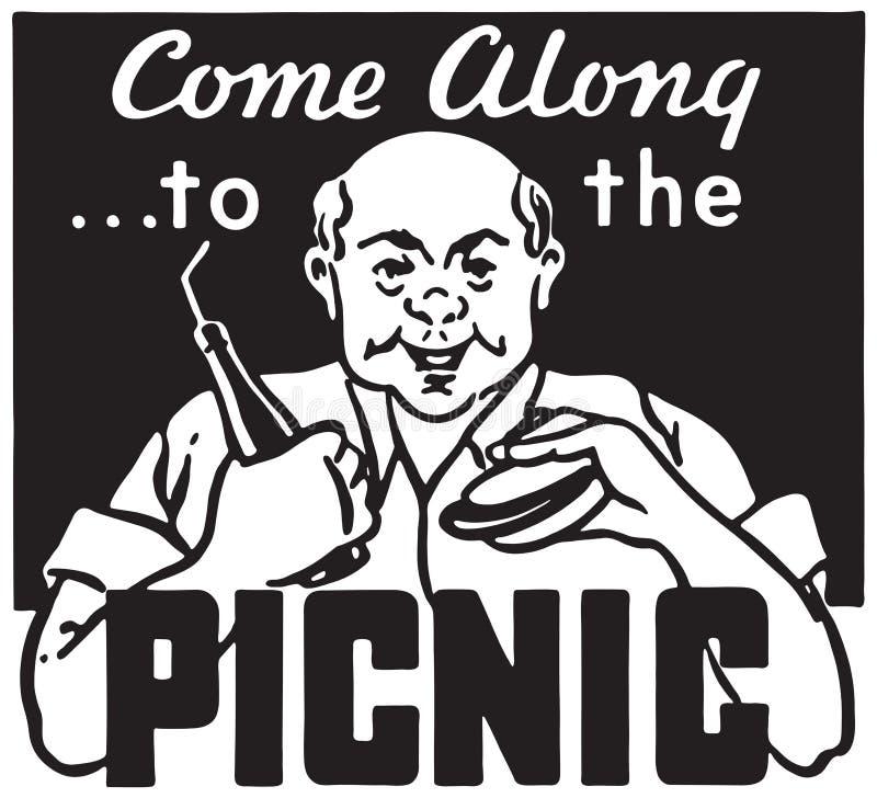 Kom aan de Picknick stock illustratie