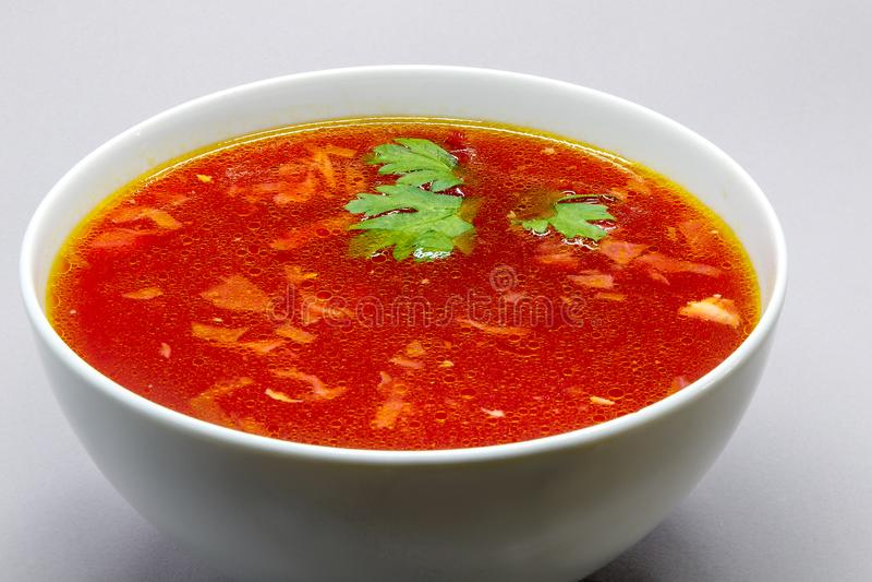 Kom borscht stock fotografie