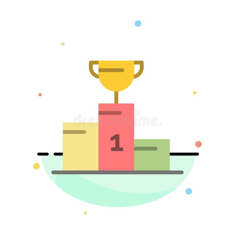 Kom, Ceremonie, Kampioen, Kop, het Pictogrammalplaatje van de Drinkbeker Abstract Vlak Kleur vector illustratie