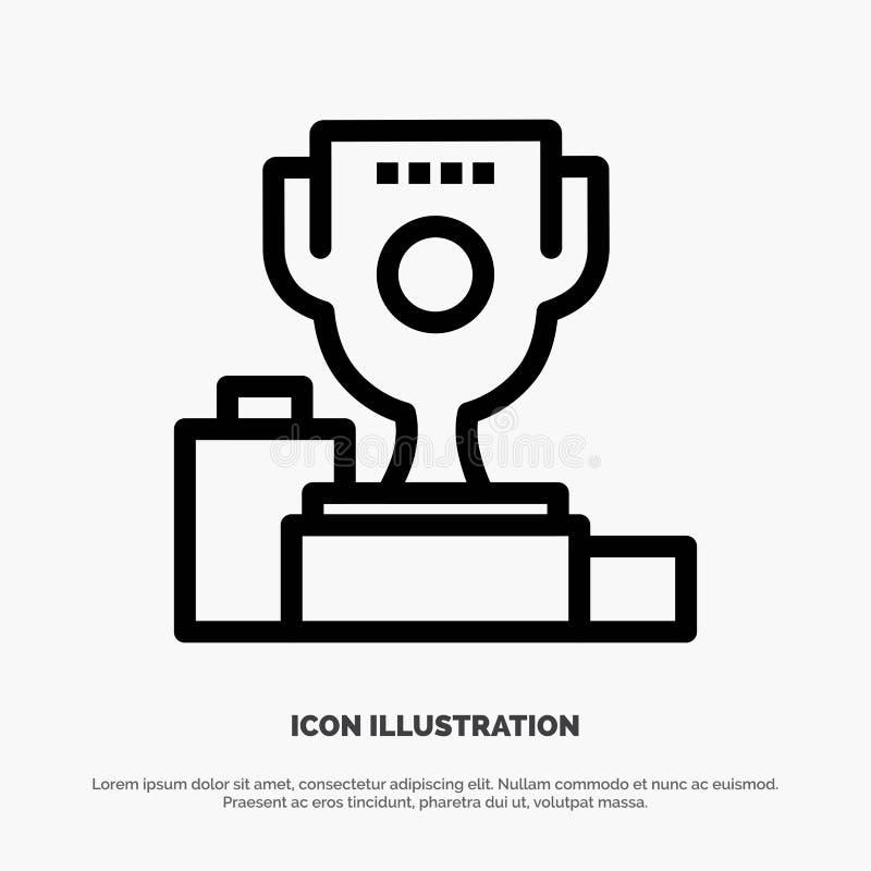 Kom, Ceremonie, Kampioen, Kop, het Pictogramvector van de Drinkbekerlijn stock illustratie