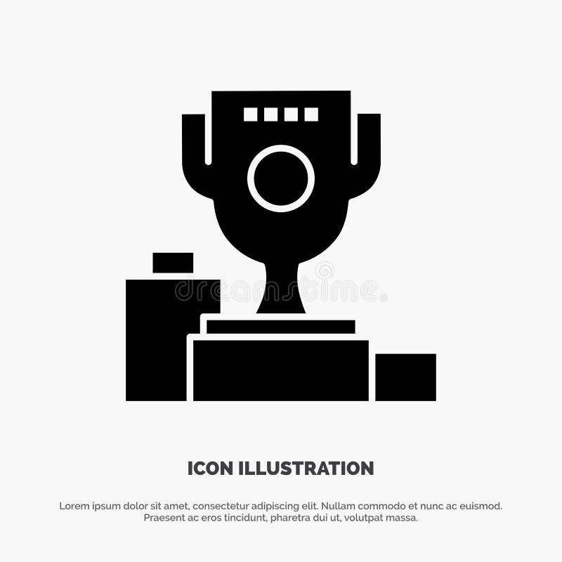 Kom, Ceremonie, Kampioen, Kop, het Pictogramvector van Drinkbeker stevige Glyph stock illustratie