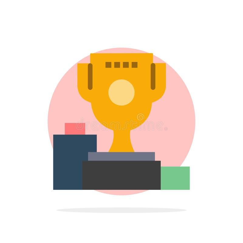 Kom, Ceremonie, Kampioen, Kop, van de Achtergrond drinkbeker Abstract Cirkel Vlak kleurenpictogram stock illustratie