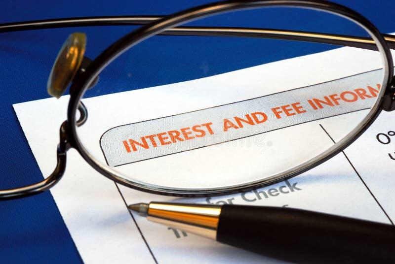 Kom de rente en de prijsinformatie te weten royalty-vrije stock foto
