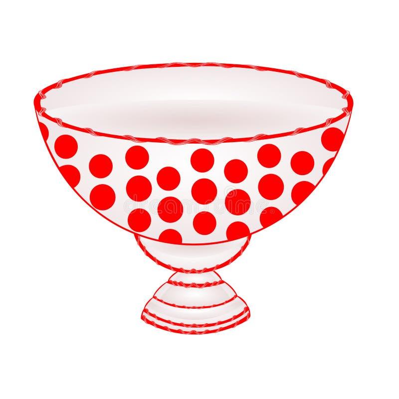 Kom fruit met rode puntenvector royalty-vrije illustratie