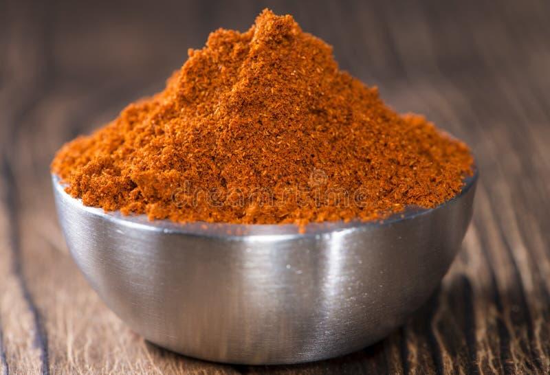 Kom met Paprika Powder stock afbeelding
