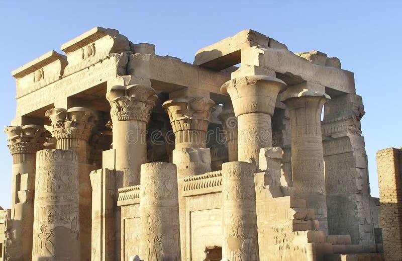Kom Ombo Afryce Egiptu Do świątyni Zdjęcie Royalty Free