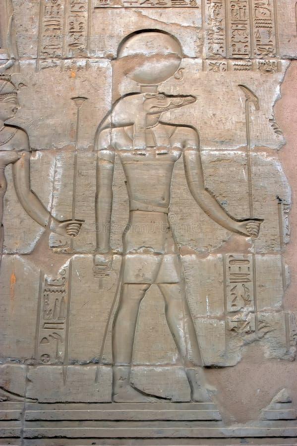 Kom Ombo, dios Sobek del cocodrilo foto de archivo libre de regalías