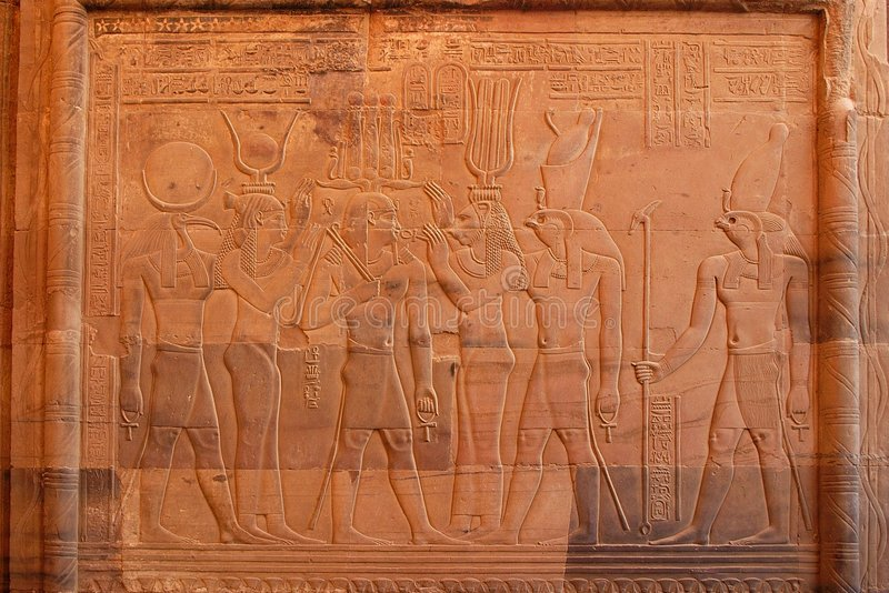 kom ombo egiptu fotografia stock
