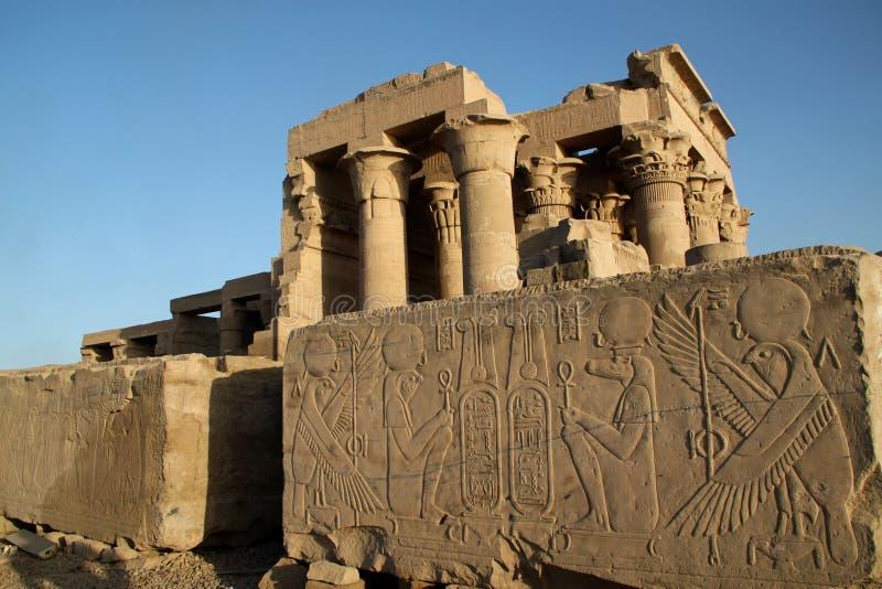 Kom Ombo Tempel Ägypten stockfotos