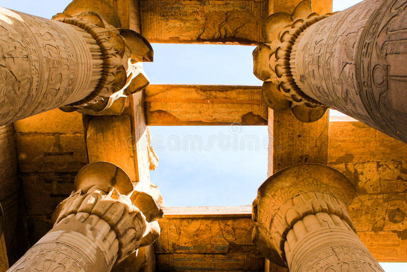 Kom Ombo tempel, Egypten arkivfoton
