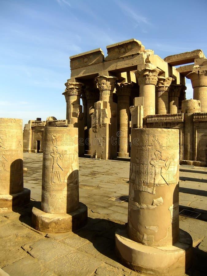 Kom Ombo tempel, Egypten fotografering för bildbyråer