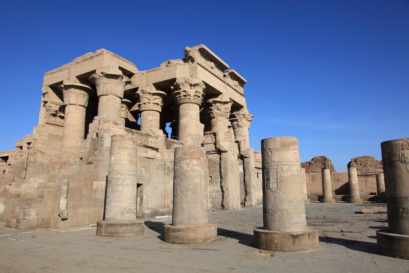Kom Ombo temple. Ancient Kom Ombo temple near Aswan, Egypt royalty free stock photo