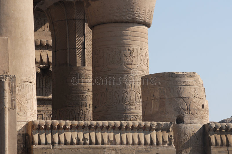 Kom Ombo temple. In Egypt stock images