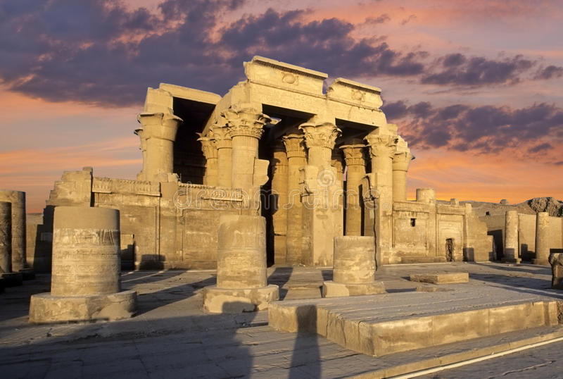 Kom Ombo temple, Egypt. Kom Ombo temple on the Nile river in Egypt royalty free stock image