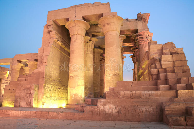 Kom Ombo Temple, Egypt. Early Evening at the Kom Ombo Temple, Egypt royalty free stock photo